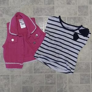 Girl's Vest And Short Sleeve Shirt 2 T